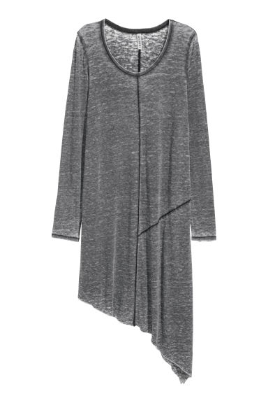 Asymmetric jersey dress - Dark grey -  | H&M IE