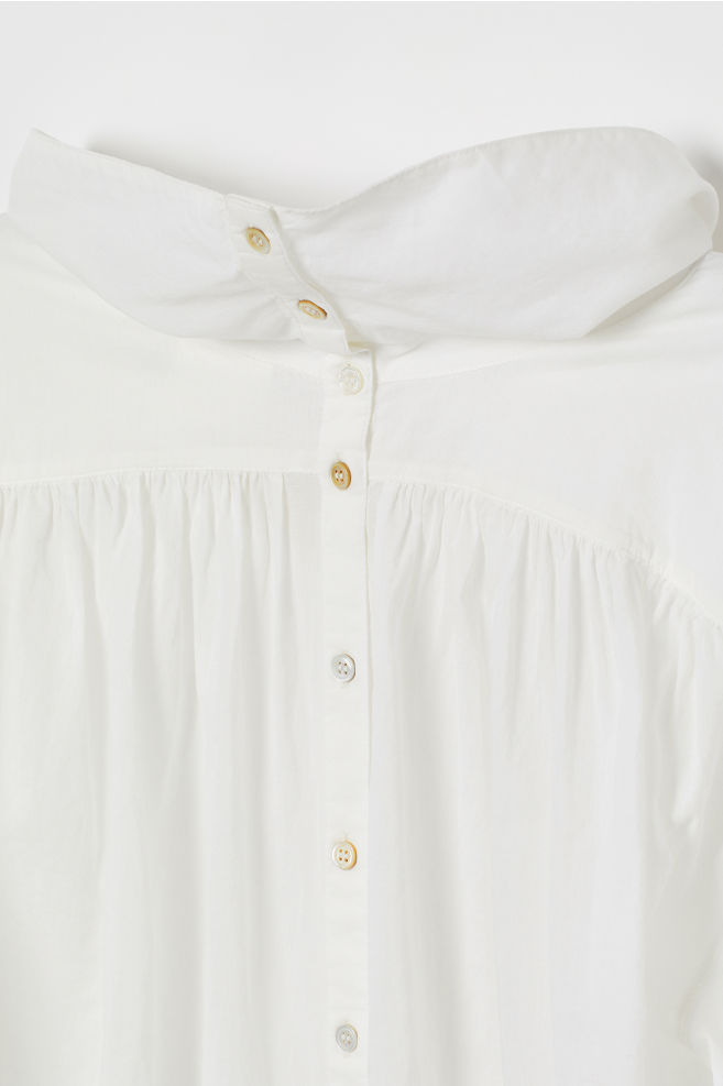 Airy cotton blouse - White - Ladies | H&M CN 7