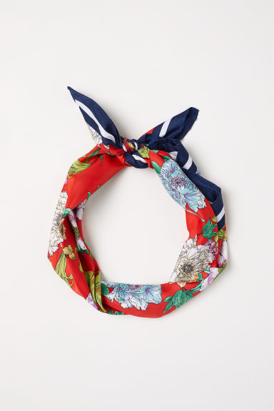 Scarf/hairband - Red/Floral - Ladies | H&M CN