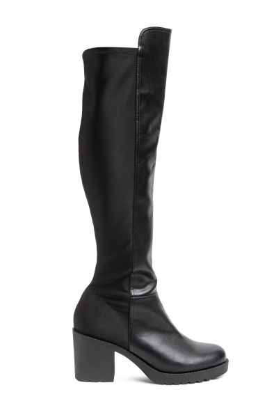Knee-high boots - Black -  | H&M CN