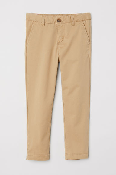 Chino - Slim fit - Beige -  | H&M NL