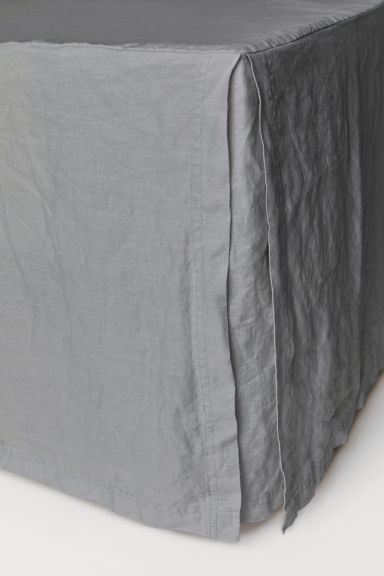 Washed linen valance - Grey - Home All | H&M CN
