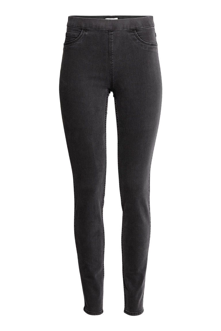 Superstretch-tregging - Nearly black - DAMES | H&M NL