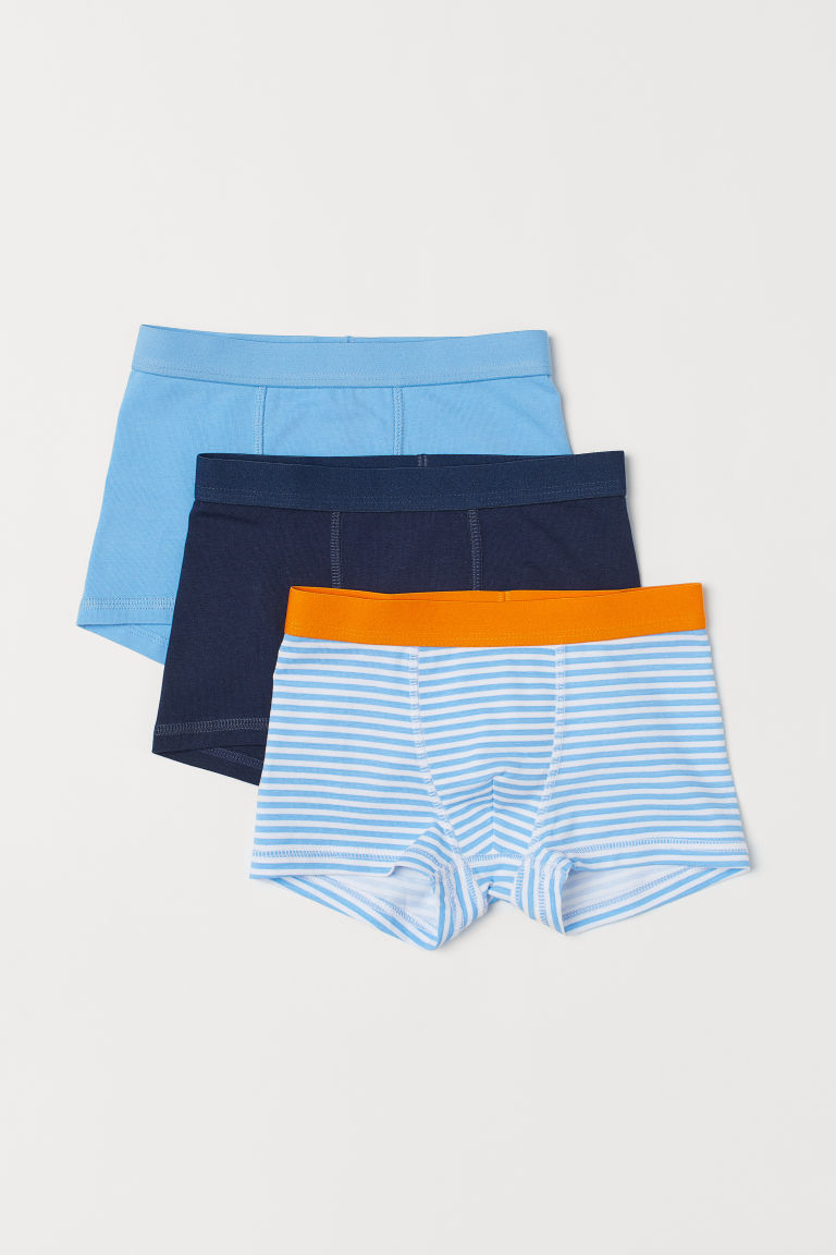 3-pack boxer shorts - Light blue/Striped - Kids | H&M CN