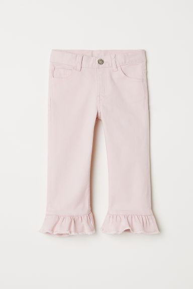 Capri trousers with frills - Light pink - Kids | H&M
