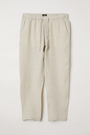 Wide trousers - Light beige - Men | H&M