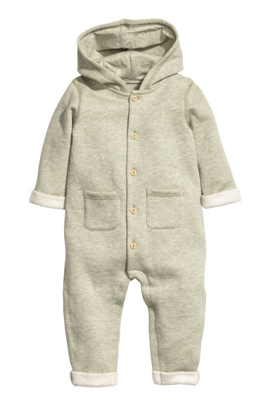 Sweatshirt all-in-one suit - Light green marl - Kids | H&M