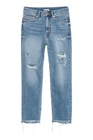Straight Ankle High Jeans - Light denim blue -  | H&M