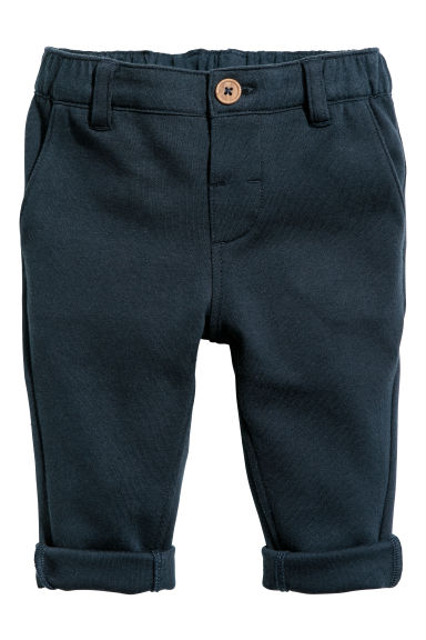 Jersey chinos - Dark blue - Kids | H&M CN