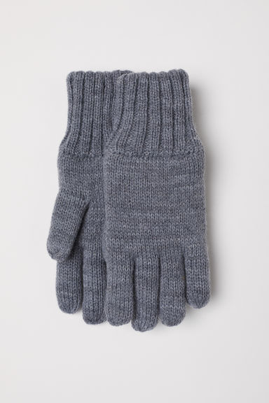 Fine-knit gloves - Grey marl - Kids | H&M CN