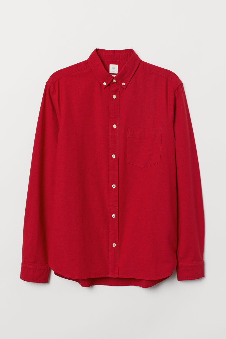 Oxfordhemd Regular Fit - Rot - Men | H&M AT