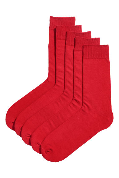5-pack socks - Red -  | H&M GB