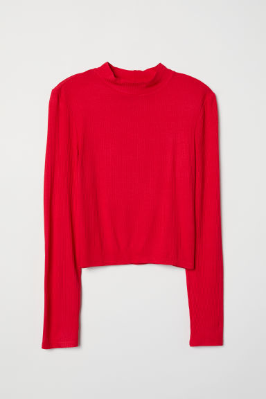 Turtleneck top - Red - Ladies | H&M