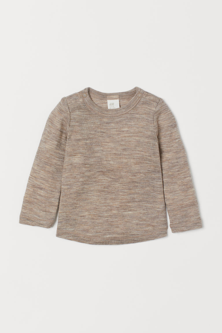 Wool top - Beige marl - Kids | H&M