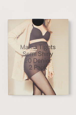 MAMA Collants 20d, lot de 2