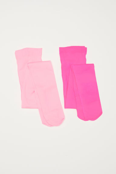 2-pack thin tights - Neon pink - Kids | H&M CN