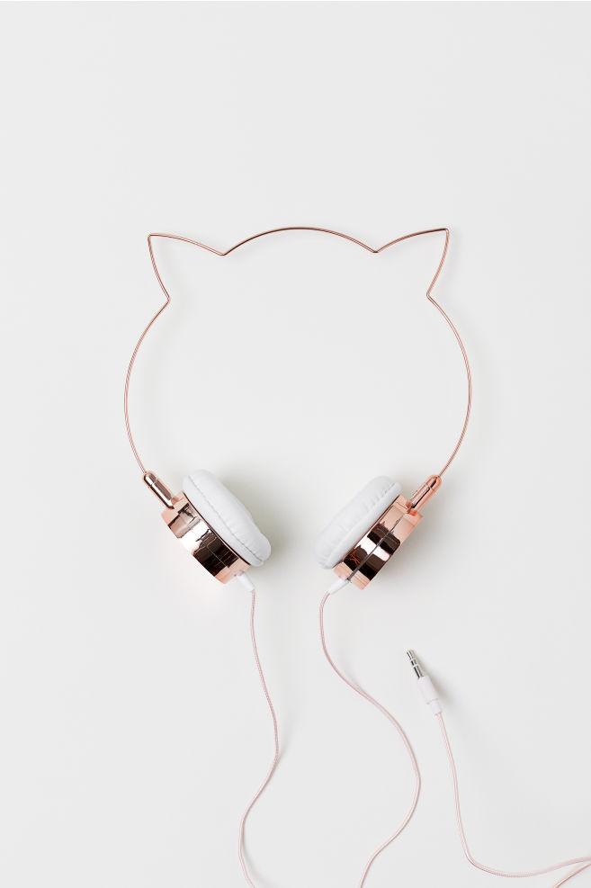 On ear-hörlurar med öron - Ljusrosa Kattöron - BARN  77937118a1449