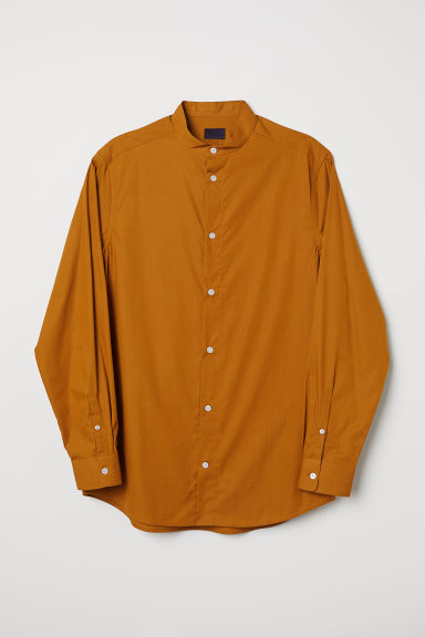 Grandad shirt - Ochre - Men | H&M CN