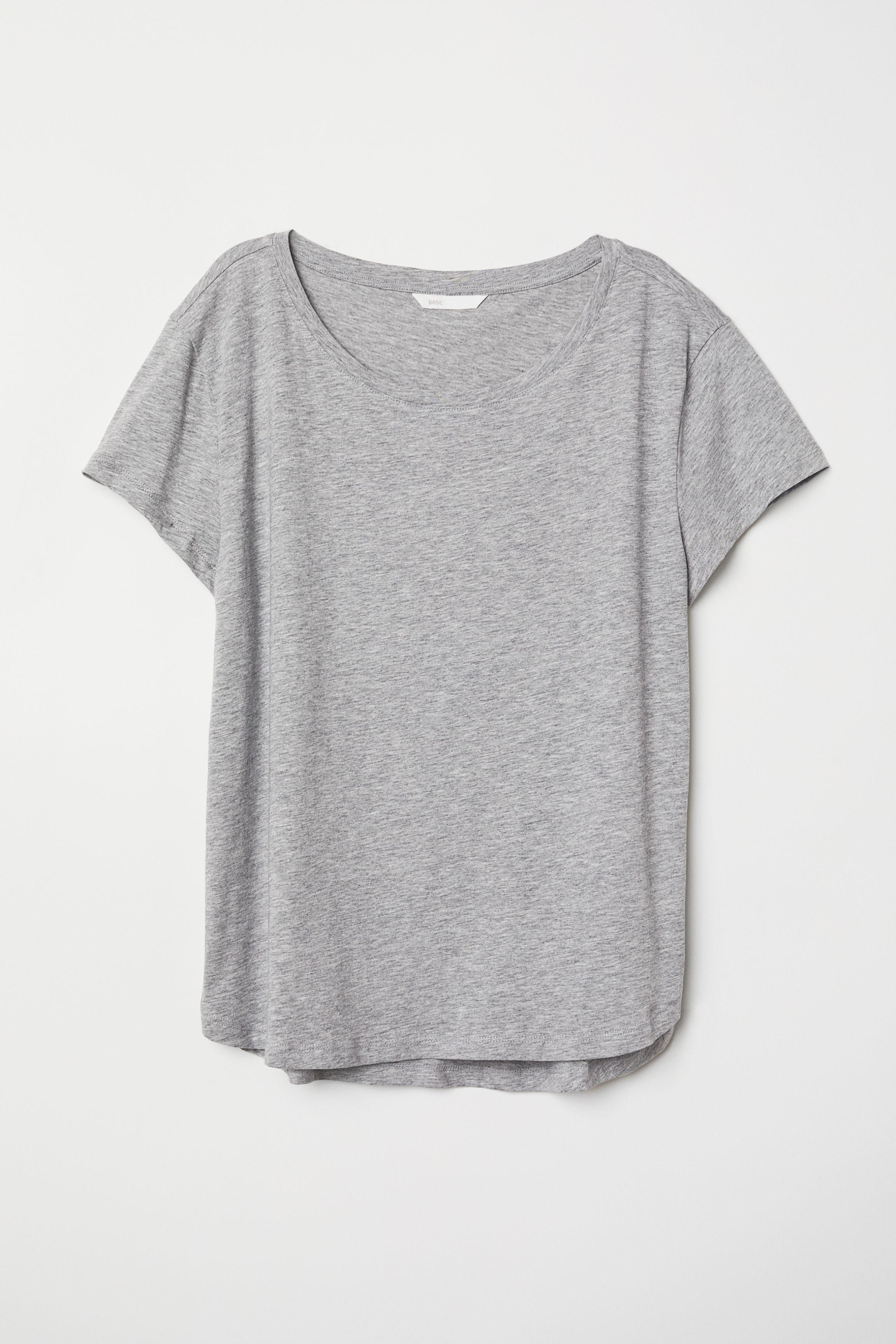 eccbbd4d1034 Cotton T-shirt - Light beige/leopard print - Ladies | H&M US