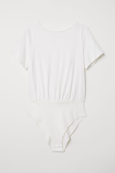Knot-detail body - White - Ladies | H&M