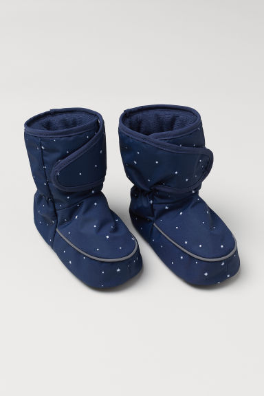 Padded bootees - Dark blue/Stars - Kids | H&M