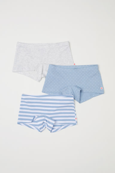3-pack boxer briefs - Light grey/Striped - Kids | H&M CN