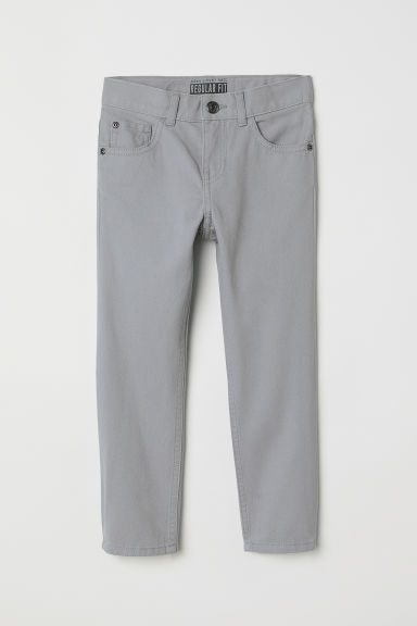 Pantalon en twill Regular fit - Gris -  | H&M FR