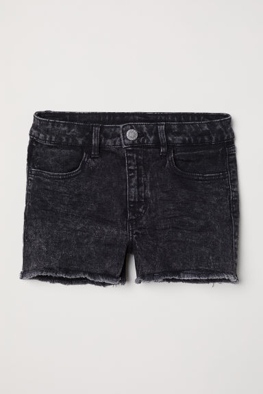 Twill shorts - Black washed out - Kids | H&M CN