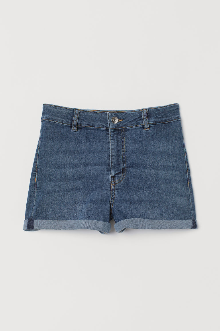 Twill shorts High Waist - Dark denim blue -  | H&M CN