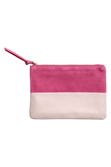 Leather and suede pouch - Cerise - Ladies | H&M CN