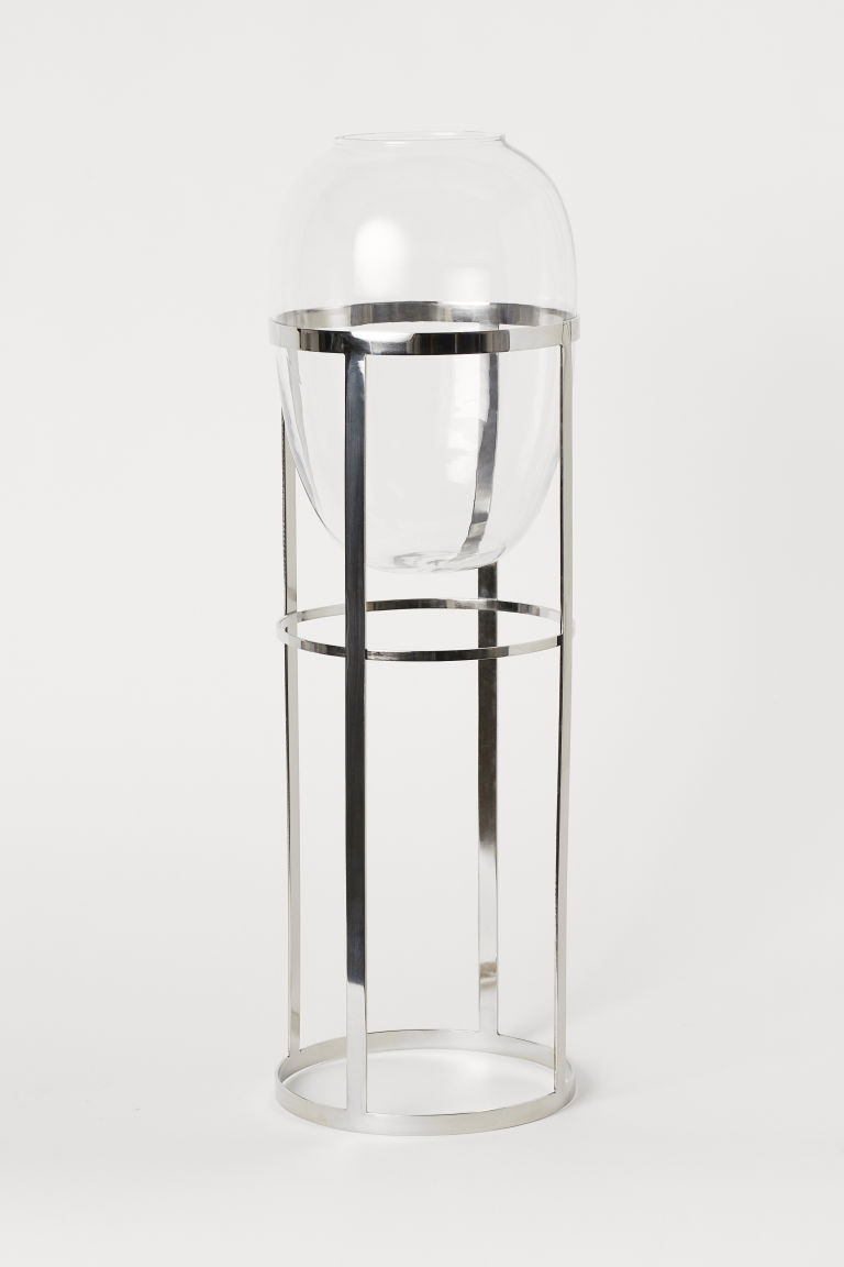 Vase sur piédestal - Verre transparent - Home All | H&M CA