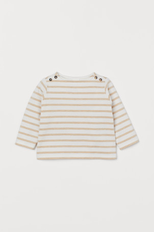 Boat-necked cotton top