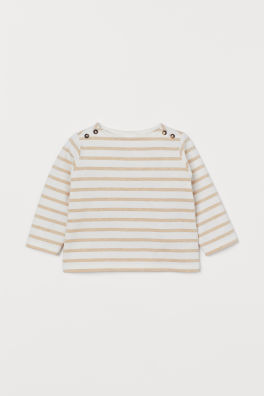 6f8b2520f Boat-necked cotton top. SAVE AS FAVOURITE. BABY EXCLUSIVE