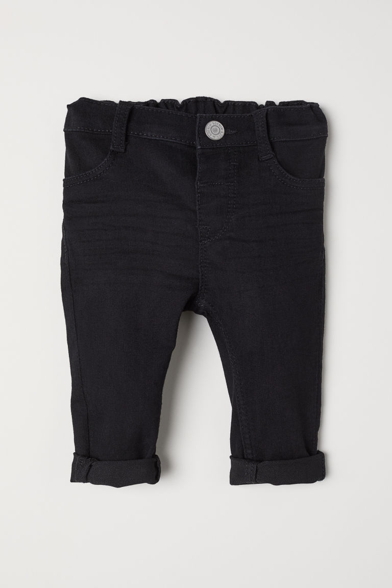 Skinny Fit Jeans - Black denim - Kids | H&M CN