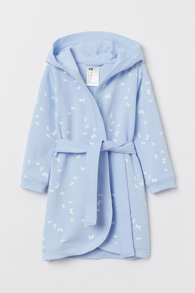 Dressing gown - Light blue/Butterflies - Kids | H&M