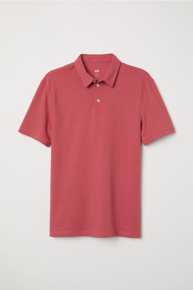 0f710092 Polo Shirt Slim fit - Red - Men | H&M ...