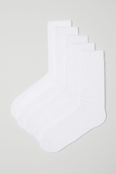 5-pack socks - White - Men | H&M GB