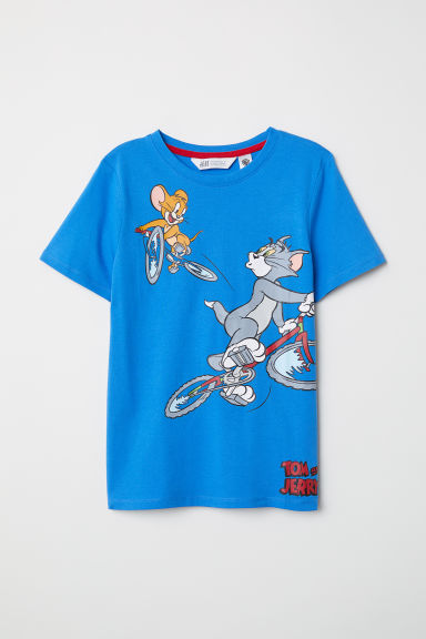 T-shirt con stampa - Blu acceso/Tom & Jerry - BAMBINO | H&M IT
