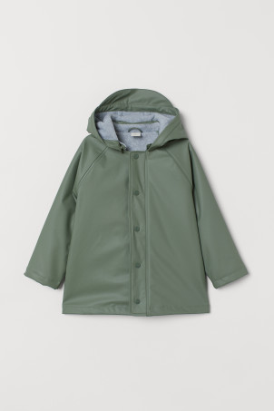 Fleece-lined Rain Jacket