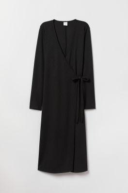 bf1494c63462b Ribbed wrap dress