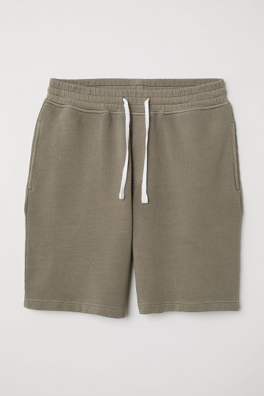 Sweatshirt shorts - Khaki green - Men | H&M