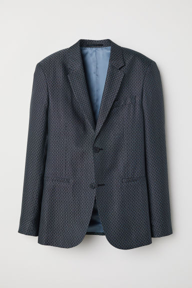 Jacquard-weave jacket Slim fit - Black/Patterned -  | H&M