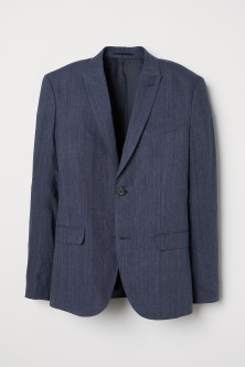 Blazer in lino Slim fit
