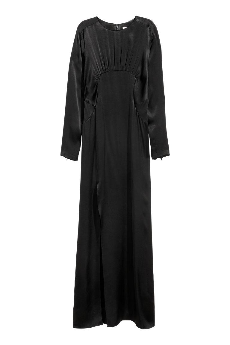 sale retailer 34204 9a5ef Langes Kleid mit Schlitz