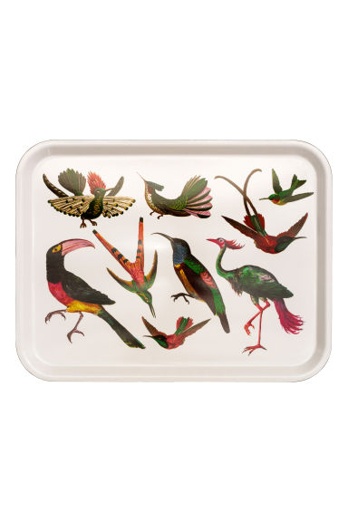Patterned tray - White/Birds -  | H&M GB