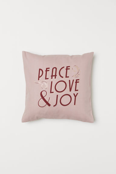 Printed cushion cover - Dusky pink - Home All | H&M GB