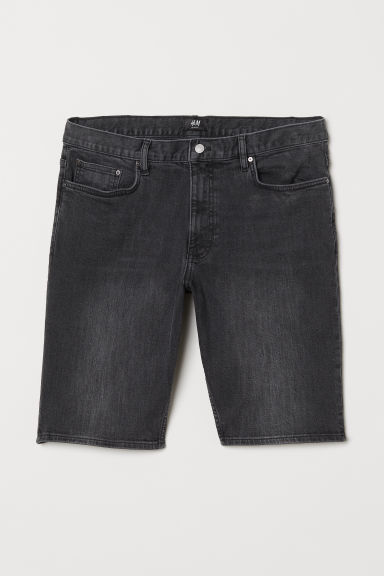 Shorts in denim Slim Fit - Denim nero - UOMO | H&M IT