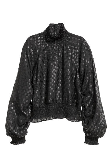 Frilled blouse - Black - Ladies | H&M