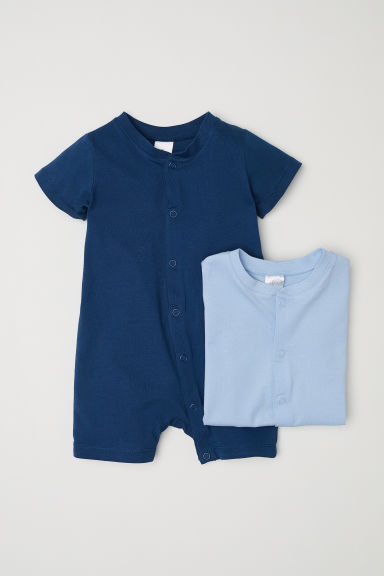 2-pack all-in-one pyjamas - Blue -  | H&M
