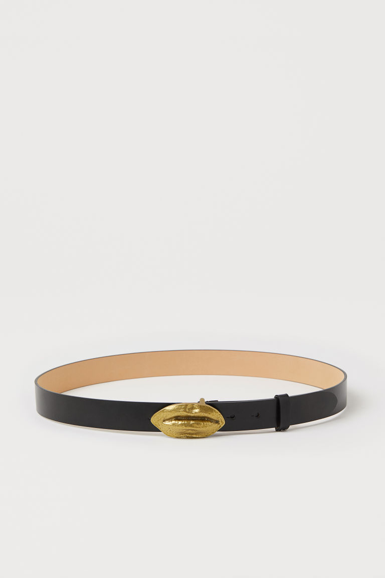 Leather Belt - Black - Men | H&M US